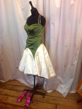 """Silvia"" vintage silk flower dress"