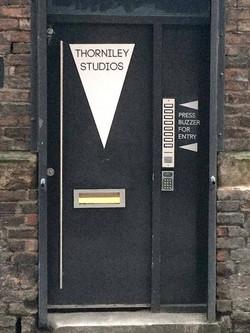 Thorniley Studios, main door
