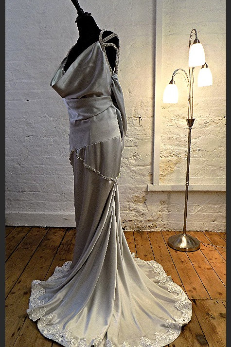 """Courtney"" Sustainable 100% ""Peace"" silk wedding dress"