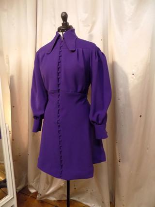 """Nicola"". Replica of a 1970's Ossie Clark dress"