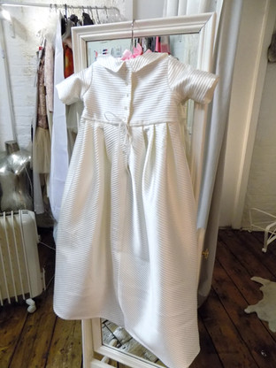Victoria upcycled christening gown back.