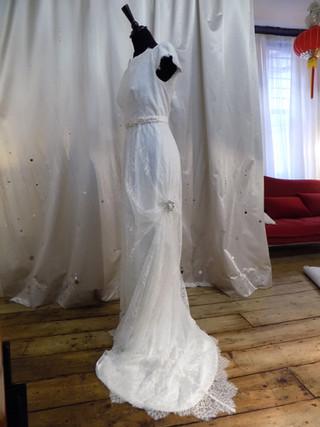 """Julie"" antique style wedding dress"
