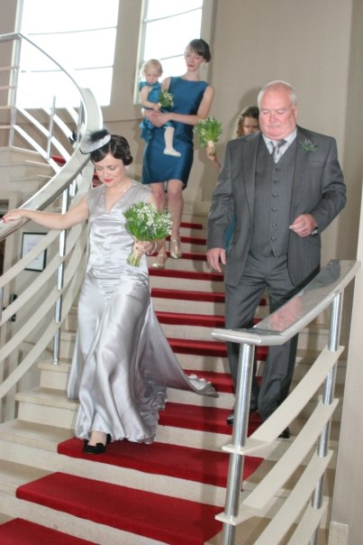 """Clare"" bespoke wedding dress"