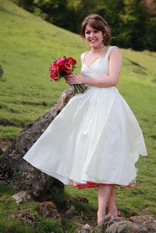 """Catrina"". 1950's replica silk wedding dress."