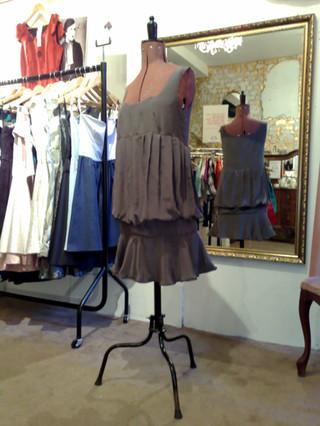 """""""Zoraida"""".1920's replica dress in silk."""