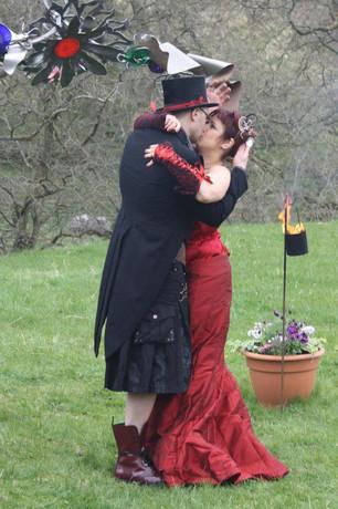 """""""Daisy"""" steampunk wedding dress"""