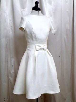 """""""Jodie"""", 1960's style short wedding dress"""