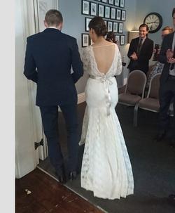 """Sophie"" bespoke wedding dress"