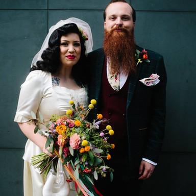 Upcycled 1940's wedding dress