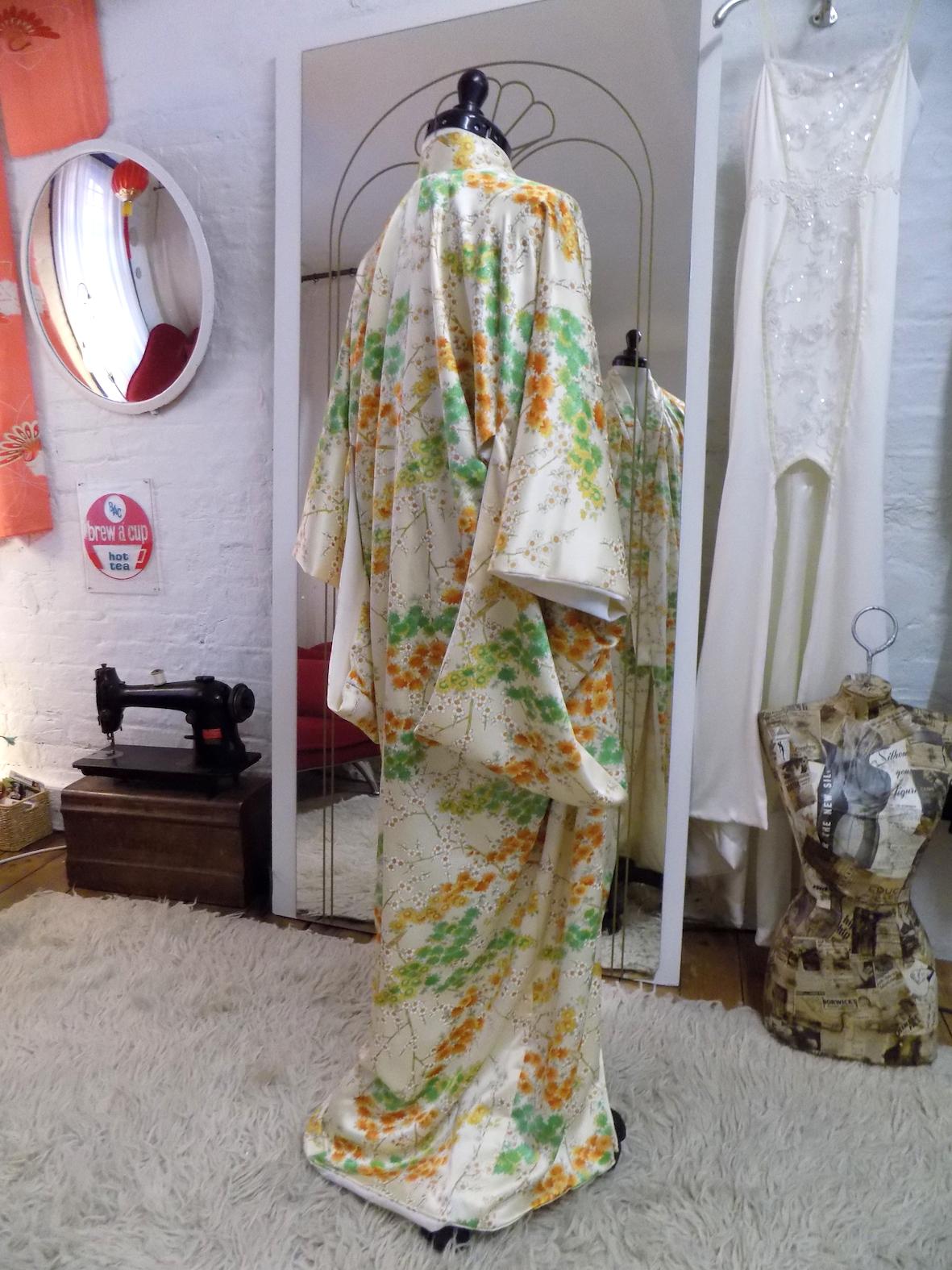 Bespoke silk kimono