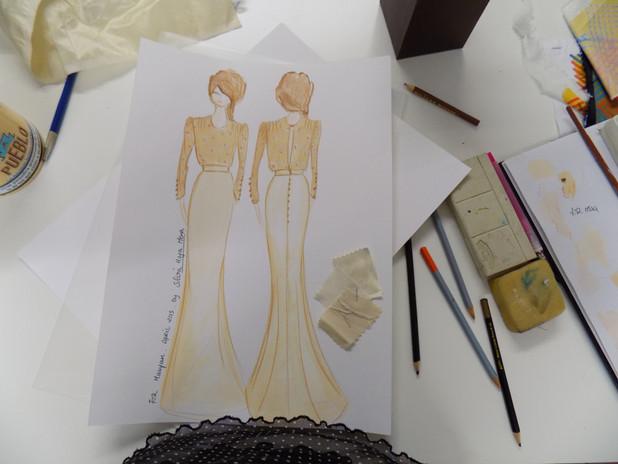 """Maayan"" Upcycled antique wedding dress"
