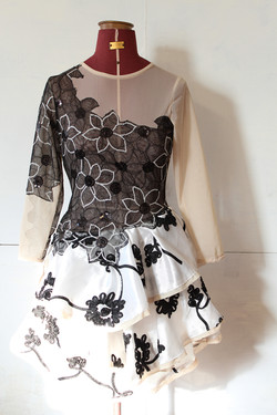 floating sequin applique dress