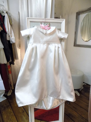 Victoria upcycled christening gown front