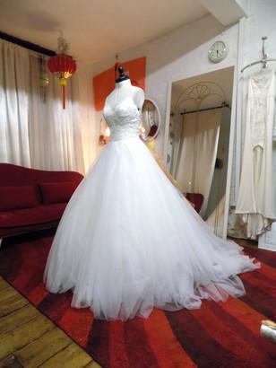 %22Jen%22 customized wedding dress with
