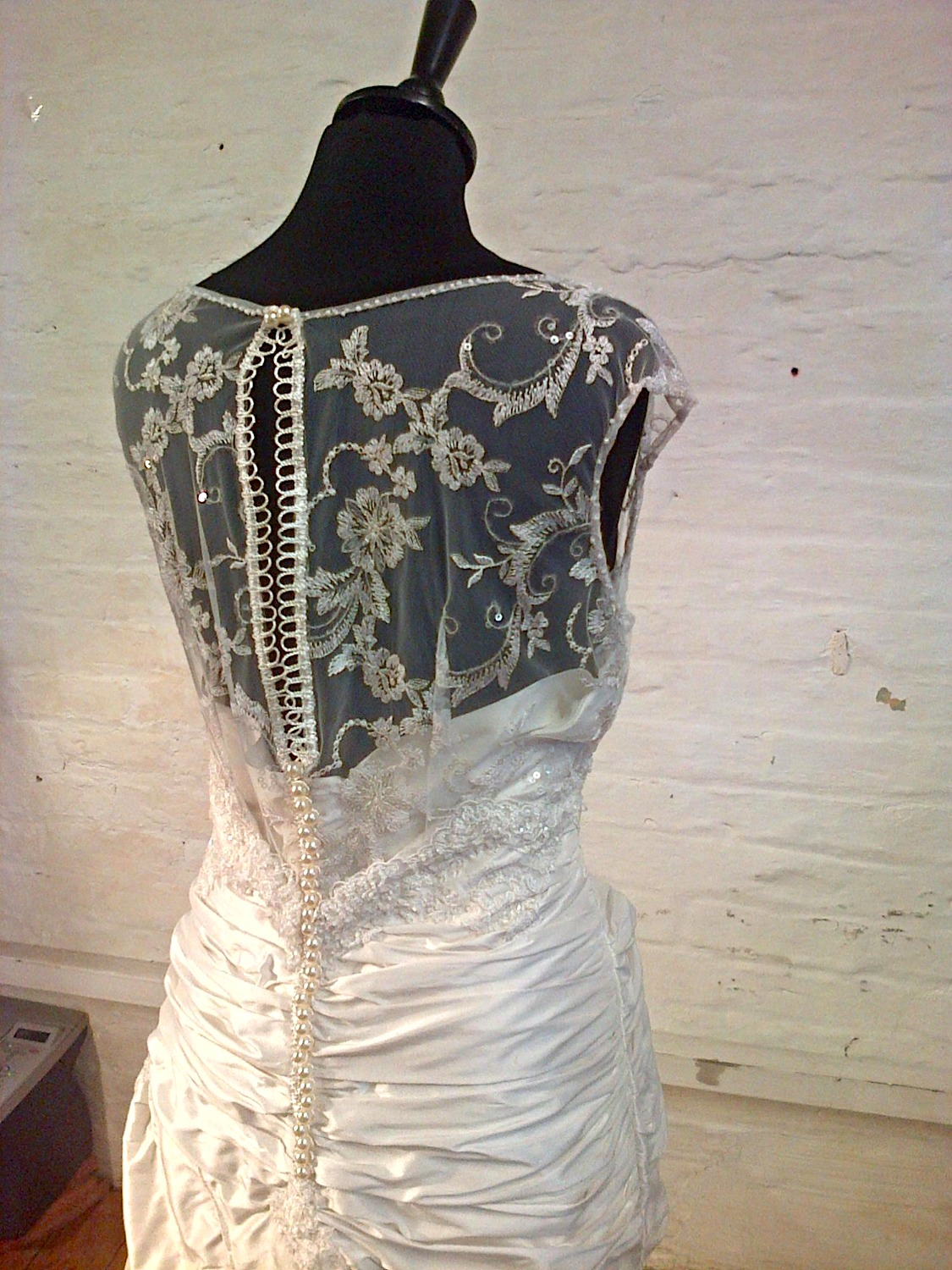 """Claire"" bespoke wedding dress"