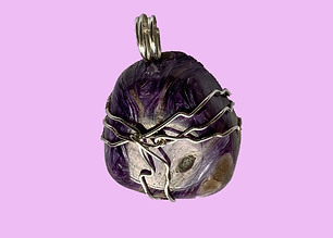 Charoite Silver Wrapped