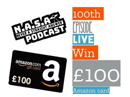 100th LIVE and WIN £100 Amazon card