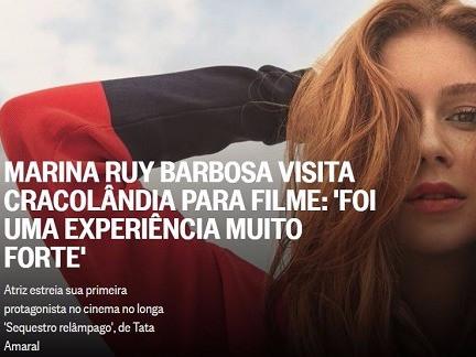 Marina Ruy Barbosa visita Cracolândia para filme