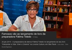 Fátima Toledo na página da UOL