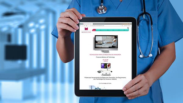 Doctor con Tablet con Pagina Inicio PMFM