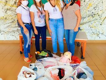 Doação de brinquedos, roupas e sapatos - GEFF João Pessoa, PB
