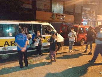 Ação social com moradores de rua em São Leopoldo - RS