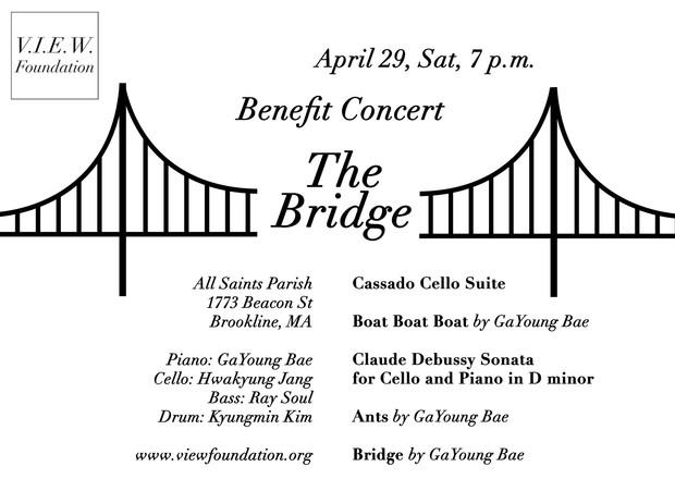 """Benefit Concert """"The Bridge"""", 4/29 Sat 7 p.m."""