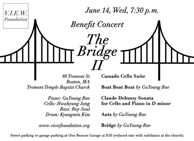 """Benefit Concert """"The Bridge II"""", 6/14 Wed 7:30 p.m."""