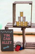 carnival wedding games tin can alley rea