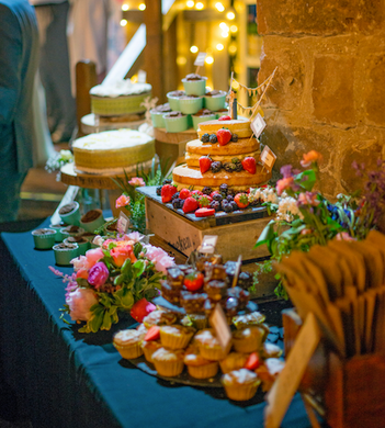 cake table real wedding rustic