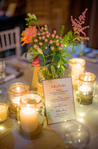 table centerpieces real wedding candles