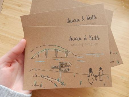 Laura & Keith: Clifftop Wedding Stationery