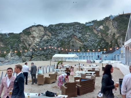Beachfront wedding at Lusty Glaze Cornwall - Heather and Liam
