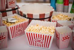 Carnival wedding popcorn real wedding