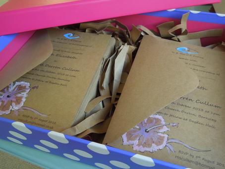 Sarah & Rich: Hibiscus Flower Wedding Stationery