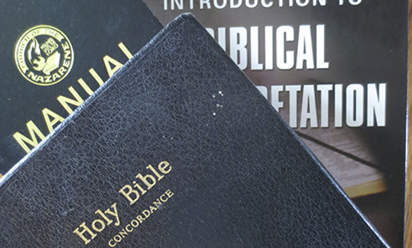 Bible and books for a pastor.