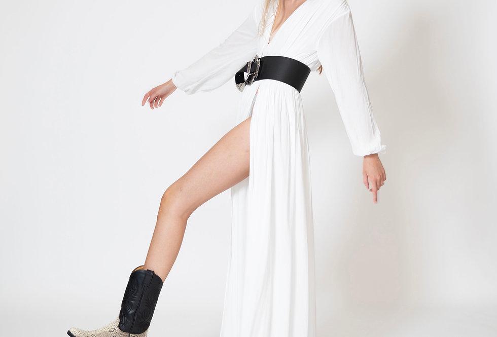 GYPSY MAXI DRESS - BLANC