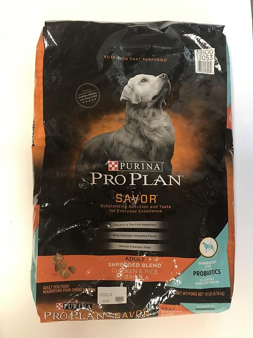 Purina Pro Plan Adult Chicken & Rice 18 lbs