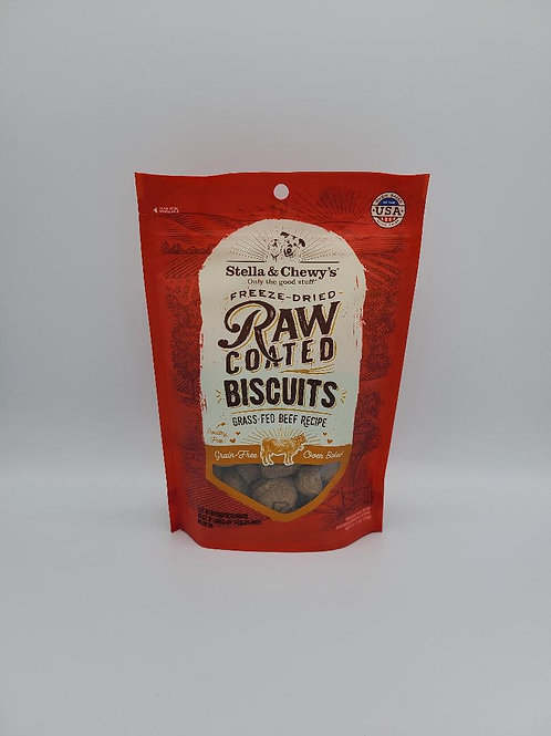 Stella & Chewy's Freeze-Dried Raw Coated Biscuits Beef