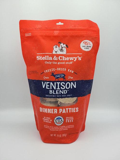 Stella & Chewy's Raw Freeze-Dried Dinner Patties 14 oz Venison
