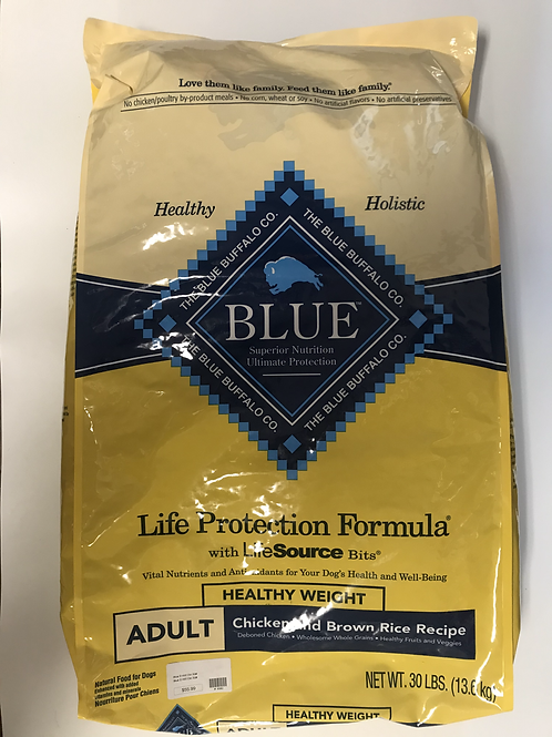 Blue Buffalo Adult Healthy Weight Chicken & Brown Rice 30 lbs