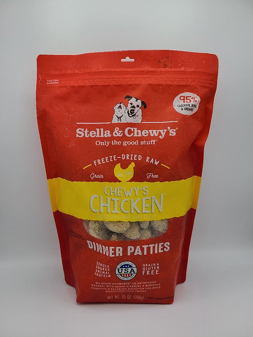 Stella & Chewy's Raw Freeze-Dried Dinner Patties Chicken