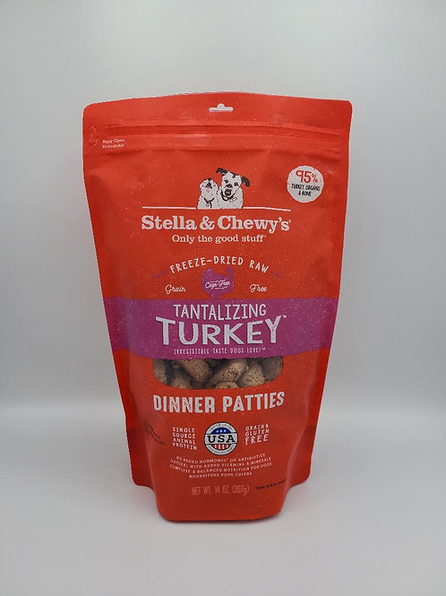 Stella & Chewy's Raw Freeze-Dried Dinner Patties 14 oz Turkey