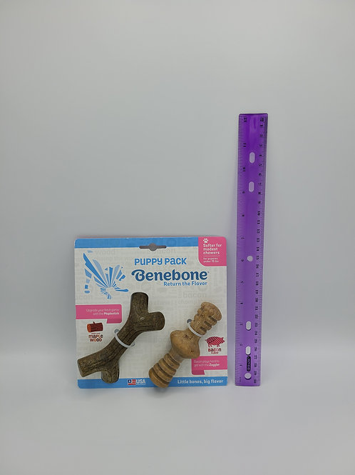 Benebone Puppy Pack Maplestick & Zaggler Maple Wood & Bacon