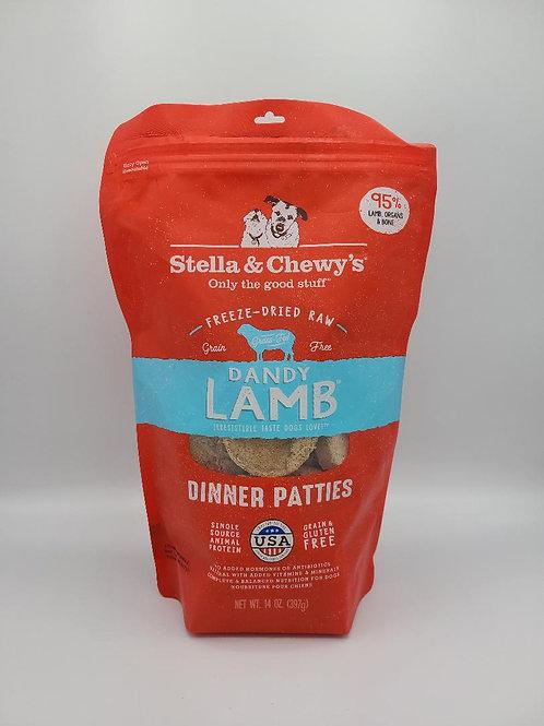 Stella & Chewy's Raw Freeze-Dried Dinner Patties 14 oz Lamb