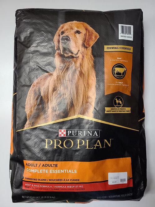 Purina Pro Plan Adult Beef & Rice 18 lbs