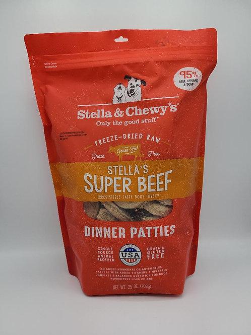 Stella & Chewy's Raw Freeze-Dried Dinner Patties Super Beef