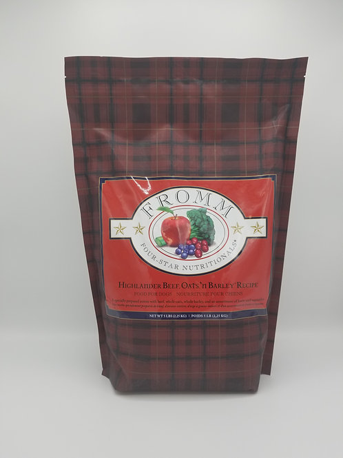 Fromm Highlander Beef, Oats & Barley Recipe 5 Lbs
