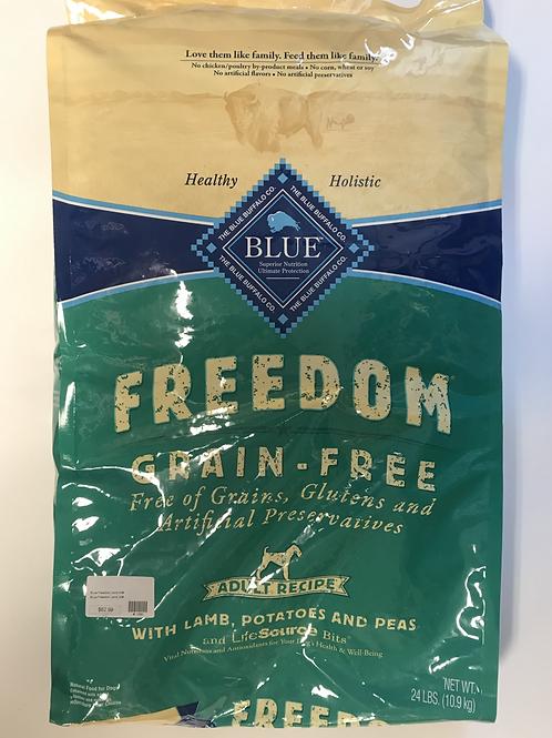 Blue Buffalo Freedom Grain-Free Lamb, Potatoes, and Peas 24 lbs
