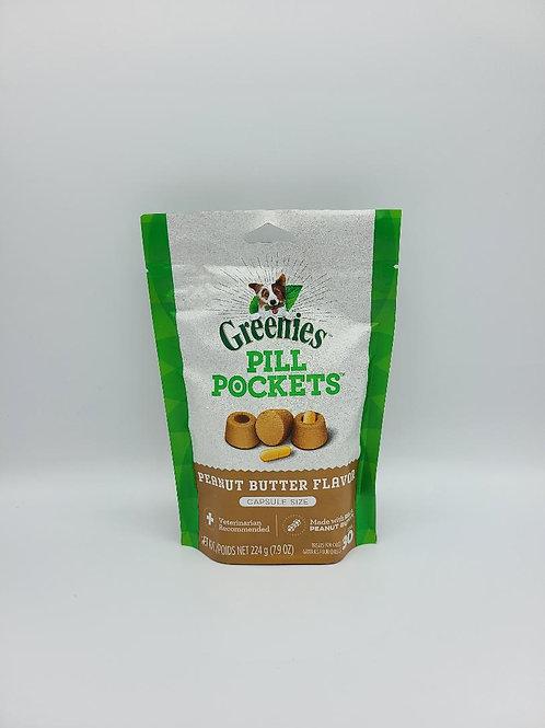Greenies Pill Pockets Capsule Size Peanut Butter